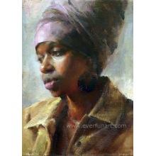 Ручная работа женщин холстины искусства сбывания Handmade сбывания африканская африканская (EIF-131)