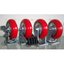 Heavy Duty PU on Cast Iron Casters