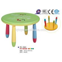 Durable e colorido crianças mesa de plástico com cadeira colorida
