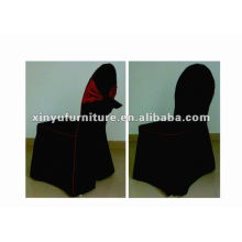 black banquet chair cover with bow XC913