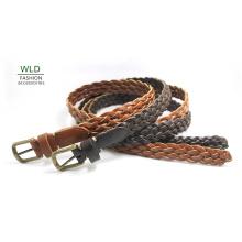 Fashion Basic Braided Genuine Top Leather Lady Belt Lky1163
