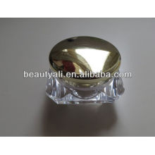 Electroplating Cap Diamond Acrylic Cosmetic Jar
