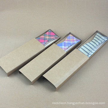 Wholesale Silver Hot Stamped Custom Logo Bow Tie Craft Paper Box