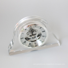 Reloj cristalino material al por mayor del escritorio del reloj de tabla del reloj