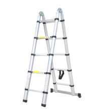 APROBACIÓN de las escaleras de paso telescópicas de aluminio doble EN131 / SGS, escaleras retráctiles dobles