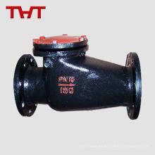 asiento de metal con bridas de hierro 1.25 8 pulgadas con válvula de retención oscilante