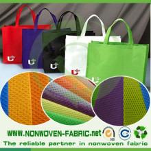 Croisez le tissu non-tissé pour le sac à provisions
