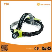 T40 Plastic 150lumens 3 Brightness Level Xre Q5 Telescopic Zoomable High Power LED Headlamp