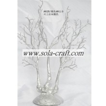 40CM Silver Acrylic Beaded Garland Tree on the Table for Home Decoration