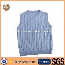 Col rond tricot en gros câble veste de bébé en cachemire