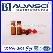 China fabricante 1.5ml ámbar de vidrio hplc vial ampolla de inyección automática