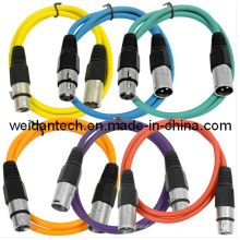 1meter Colorful Microphone 3pin XLR Cable