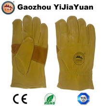 Reinforcement Palm Cow Grain Leather Safety Drivers Work Gloves