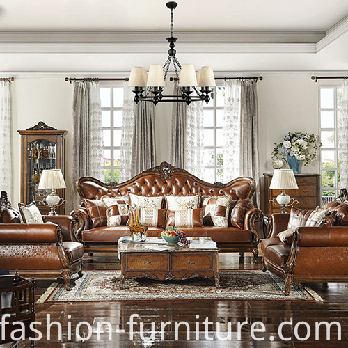 Genuine Leather Sofa Set