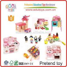 2015 Новейшая мини-игра-призрак, популярная кухонная деревянная игрушка для притвора, детская кухонная гарнитура Pretend Play