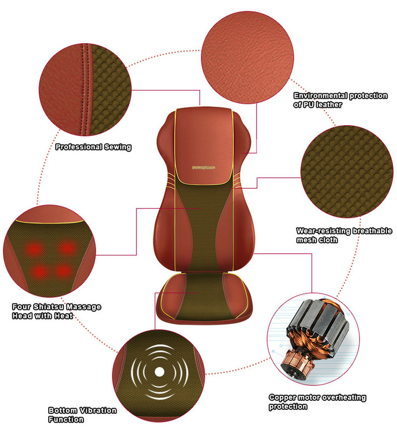 New Kneading and Tapping Massage Cushion with Heat B7090 (3)