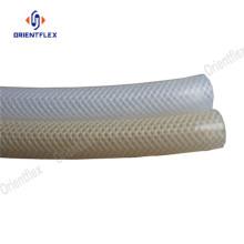 Varios tamaños de fibra de silicona reforzada tubo trenzado