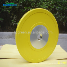 heavy power weightlifting rubber calibrated weight plate
