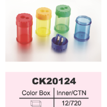Sacapuntas de lápiz plásticos coloridos