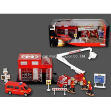 Die Cast Metal Car Play Set Toy-F/W Firefighting Play Set