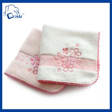 30cmx30cm veludo bordado toalha de mão (qh90033)
