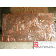 Hand Carved Lobby Metope Sculpture