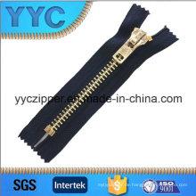 # 8 Closed-End Gold Metall Zipper für Schuhe