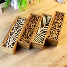 logotipo personalizado de madera caja de lápices personalizada