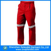 2016 Multi função bolsos vermelho homem algodão trabalho segurança calças