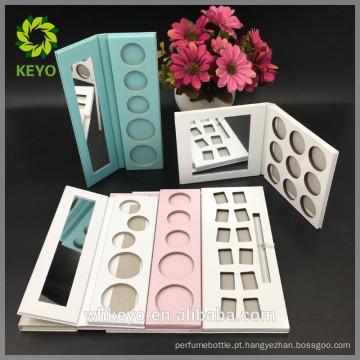Paleta de sombras de paleta de olhos paleta branca sombra de papel rosa embalagem