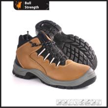 Nubuck Leather Ankle Industrial Safety Shoe with Steel Toe (SN5381)