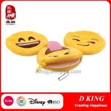 En71 Certificate Emoji Coin Purse Soft Toys for Kids