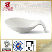 Wholesale fine royal porcelain china dinnerware, spoon shape turkish ceramics bowl