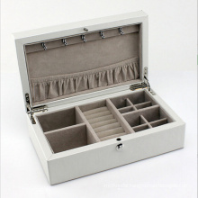 Beauty Leather Jewelry Box with White Leather (HX-A0751)