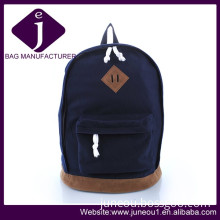 New Product Dark Blue Canvas Backpack Fashion Travel Backpack Bag Bp001