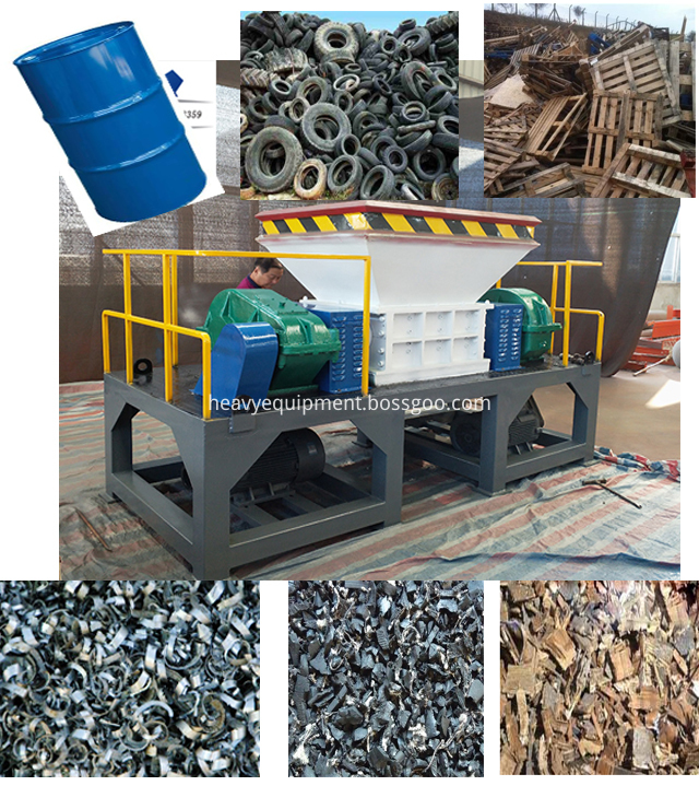 Twin Shaft Shredder Machine