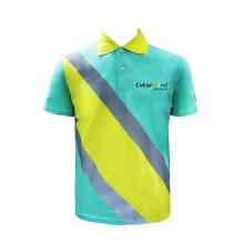 Camiseta de uniforme de hombre de entrega con cuello de facturación