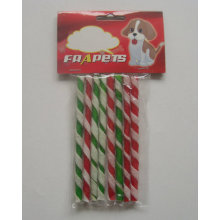 Dog Treats Double Colors Twist Stick Dog Chew