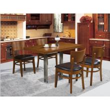 Tabela e cadeira clássicas do restaurante da madeira maciça ajustadas para 4 povos (FOH-BCA09)