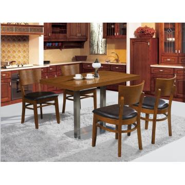 Klassische Massivholz Restaurant Tisch und Stuhl Set für 4 Personen (FOH-BCA09)