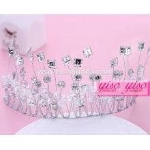 Nupcial de la boda de cristal de moda fbirthday corona para adultos corona