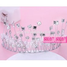 Casamento nupcial de cristal moda fbirthday coroa para adultos coroa
