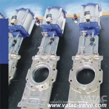 Pneumatic/Electric Operated Stainless Steel Through Going Knife Gate Valve