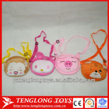 Beat selling cheap and small plush animal bags for kids