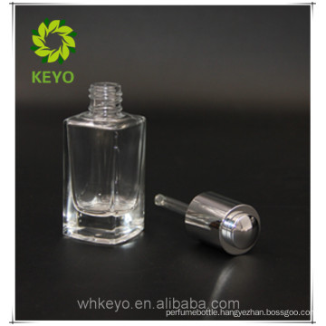 Cosmetic aluminum cap push button dropper bottle with dropper 30 ml