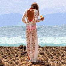 2017 new long style sweet sexy women bathing suit lace swimwear beachwear
