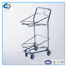 Hot Sale Hand Basket Cart Trolley for Two Baskets