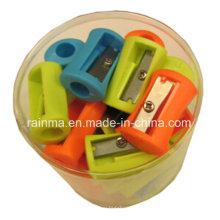 50шт Пластиковые точилка для карандашей в ПВХ банке