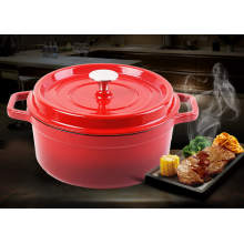 Popular Enamel Cast Iron Casserole with Stainless Steel Knob