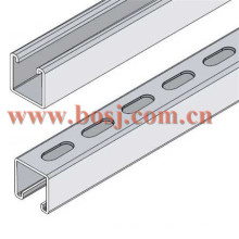 Factory Price Hot Sale Strut Channel, Slotted Strut Channel, Perforated Strut Channel Roll formando a máquina de confecção Malásia